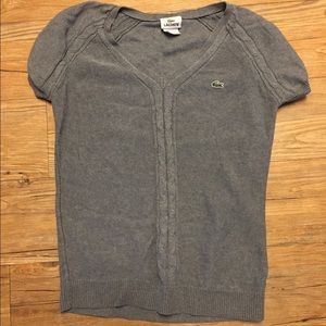 Grey Lacoste Sweater Shirt