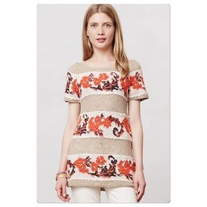 Anthropologie Banded Bouquets Tunic
