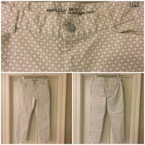 GAP Factory Khakis by GAP Slim City cropped pants