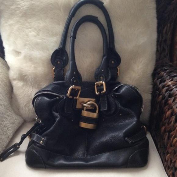 b7450a25 Chloe Paddington Bowler Bag vintage black leather