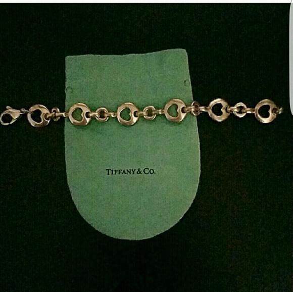 d6813337a309e Tiffany & co. Stencil heart bracelet
