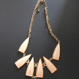 Light Coral/Blush Pink Statement Necklace
