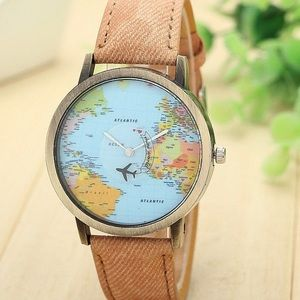 Beautiful World Map Watch