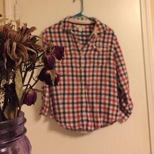Plaid button down blouse from forever 21
