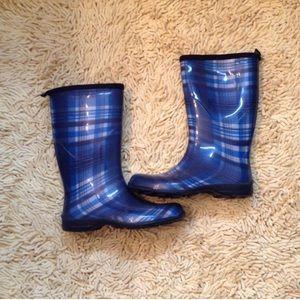 Kamik Shoes - Kamik blue/white plaid rain boots
