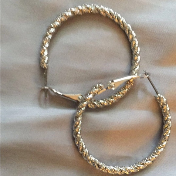 60 off forever 21 jewelry silver twisted hoop earrings for Forever 21 jewelry earrings