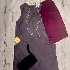LOFT Grey Shift Dress