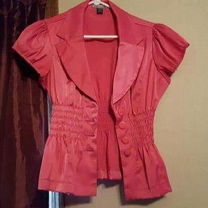 Jackets & Blazers - Fuchsia blazer top