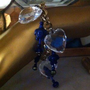 Jewelry - Free Opt: Lapis-Lazuli Beaded, Charm Bracelet