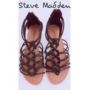 Steve Madden Morghan Black Gladiator Sandal