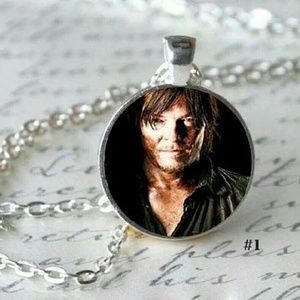 Daryl Dixon Glass Dome Necklace