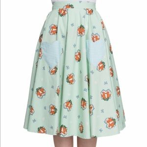 Retro Chic Dresses & Skirts - HELL BUNNY Foxy Mint Green Pinup skirt Size Large