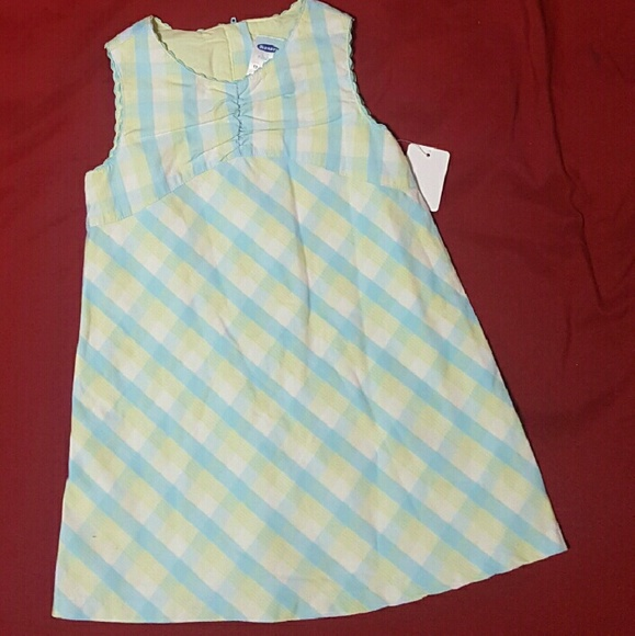 Old Navy Other - *NWT* Old Navy Baby Girls Dress Plaid Sz 12 - 18 m