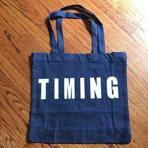"Handbags - BUNDLE IT!🎉""Timing"" Canvas Bag (NWOT)"