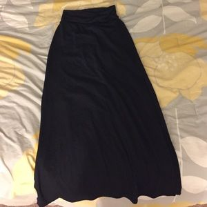 Black Maxi skirt with slits on each side