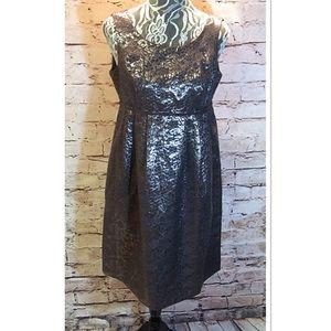 London Times Dresses & Skirts - SZ 8 LONDON TIMES SILVER METALLIC DRESS