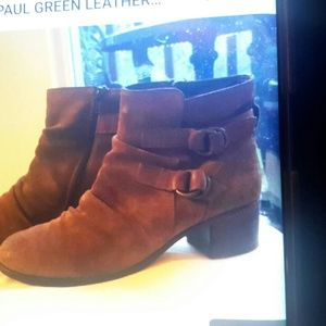 Shoes - SOLD!!!! PAUL GREEN ANKLE BOOTS SZ 9 BROWN LEATHER