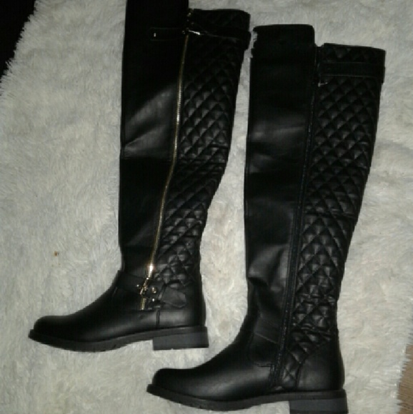 80 zara shoes black knee high boots from cynthia s