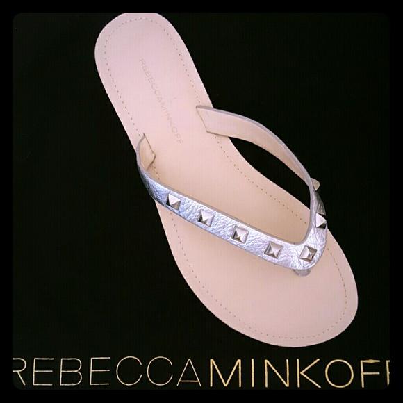 be387283615 Rebecca Minkoff Fiona studded Thong Sandal