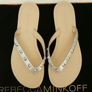fd634285726 Rebecca Minkoff Shoes - Rebecca Minkoff Fiona studded Thong Sandal