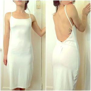 Dresses & Skirts - White Exposed Back Dress