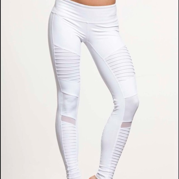 9369bd11d7d162 ALO Yoga Pants | Moto Leggings In White Size Small | Poshmark