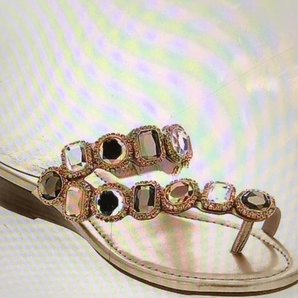 ee2df54142f Vince Camuto Rose Gold Jeweled Sandal. M 57d5492e2ba50af3360341dc