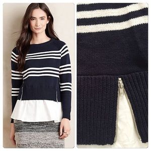 Anthropologie Layered Enna Pullover NWT