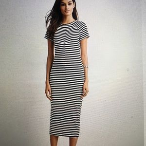 NWT Fifth label black and white stripe dress