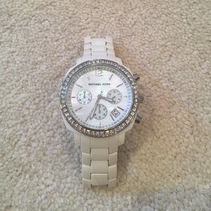 authentic crystal stone face michael kors watch authentic black crystal