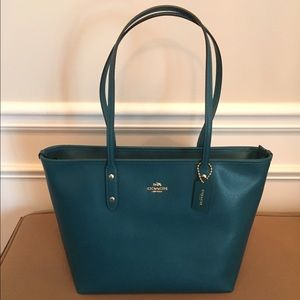 Coach Crossgrain Leather City Tote
