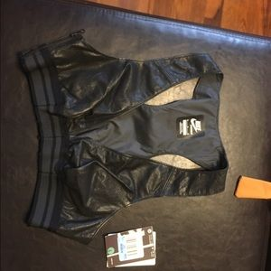 Nike leather sports bra