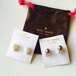 kate spade Jewelry - ALMOST GONE❗️Kate Spade pearl crystal stud earring