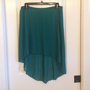 Zara basic high-low pleated skirt