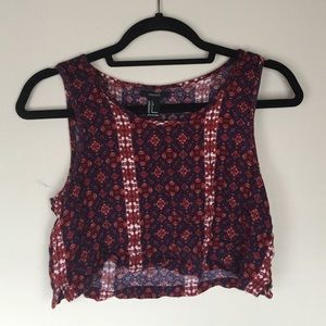 FOREVER 21 Bohemian Festival Crop Top