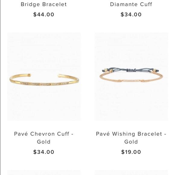 Stella Dot Jewelry Stella Dot Pave Wishing Bracelet Gold Poshmark