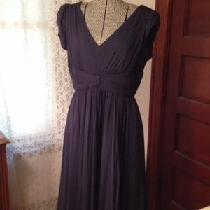 Silk, navy dress