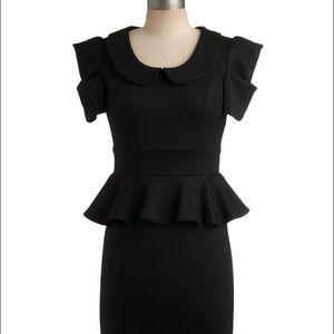 Modcloth black dress 1940s style M