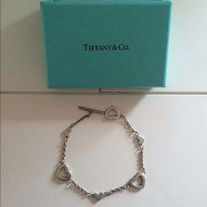 Tiffany & Co. Sterling silver open heart bracelet