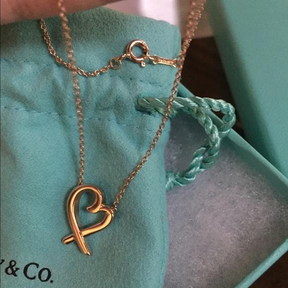 248d01f07 Tiffany & Co. Jewelry   Tiffany Co 18k Rose Gold Loving Heart ...