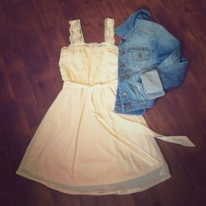 Xhilaration Blush Lace Dress