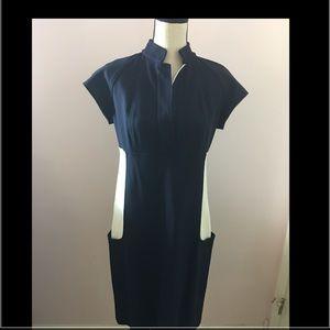 Diane von Furstenberg Dresses & Skirts - 🎉HP 1/27🎉DVF navy/cream block dress