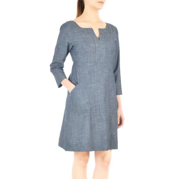 9cfd87e4bc9a3 eshakti Dresses & Skirts - eShakti empire waist chambray shift dress