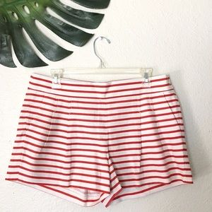 J. Crew Pants - J.Crew Red and White Striped Shorts