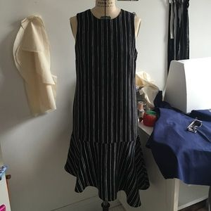 WhoWhatWear by Target Asymmetrical Striped Dress