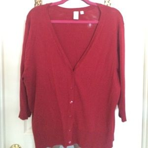 14th & Union Sweaters - Garnet Red Cardigan by 14th & Union