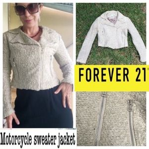 ❤️Motorcycle style sweater jacket - small