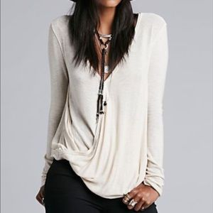 Nwot Free People miss rose wrap top