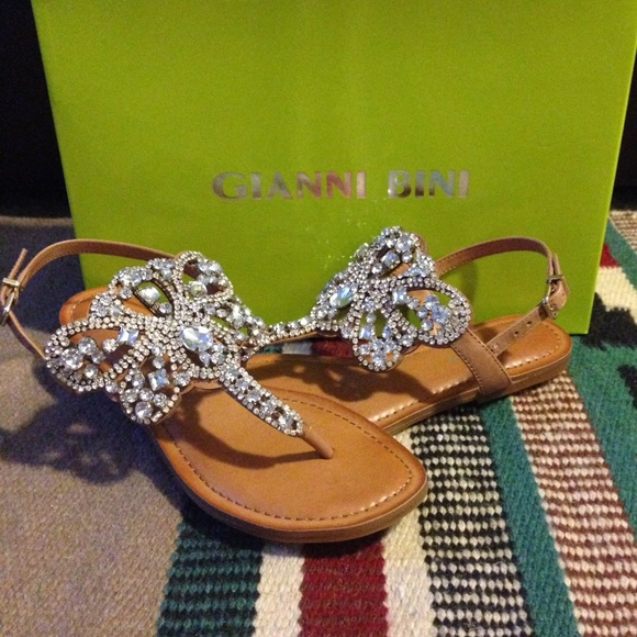 10f50506c430 Gianni Bini Shoes - Gianni Bini Jeweled Sandals