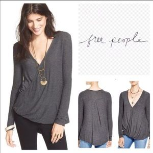 Nwot Free People Miss Rose wrap sweater